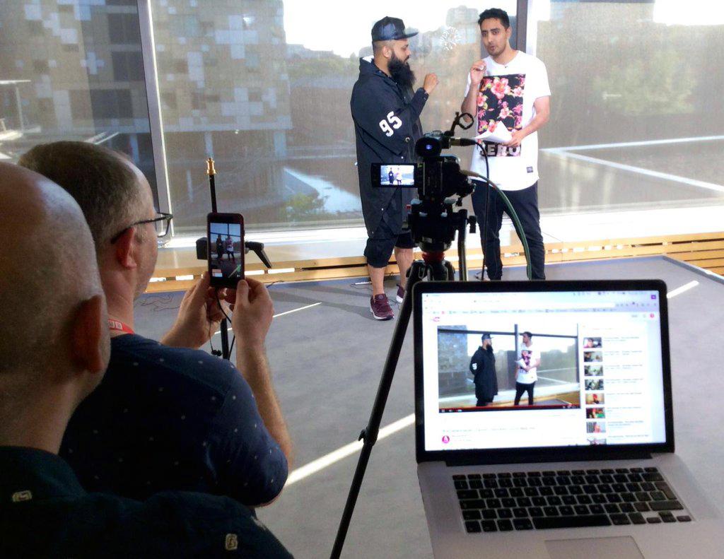 Livestream being filmed